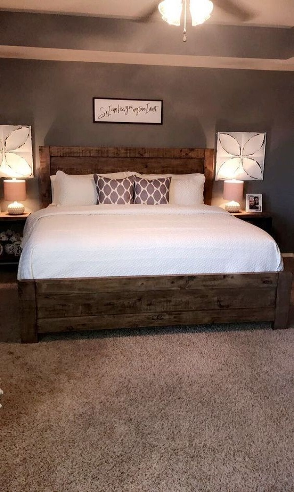 rustic bedroom decorating