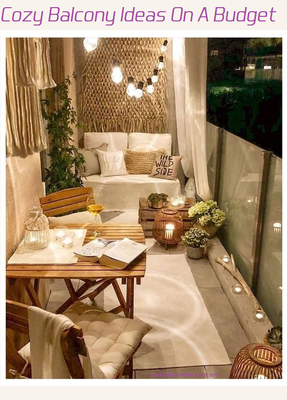 cozy balcony ideas on a budget
