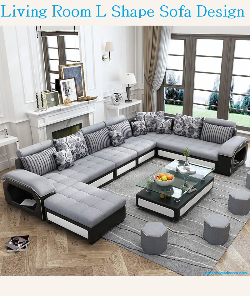living room l shaped sofa design