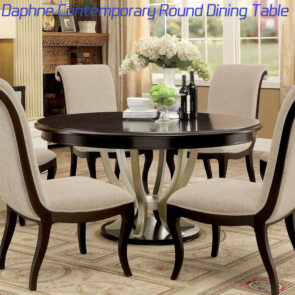 daphne contemporary round dining table