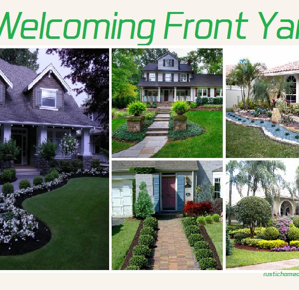 a welcoming front yard