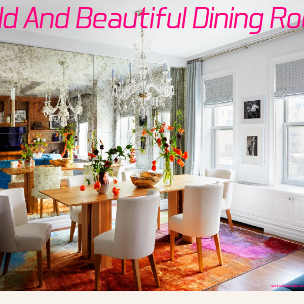 bold and beautiful dining room