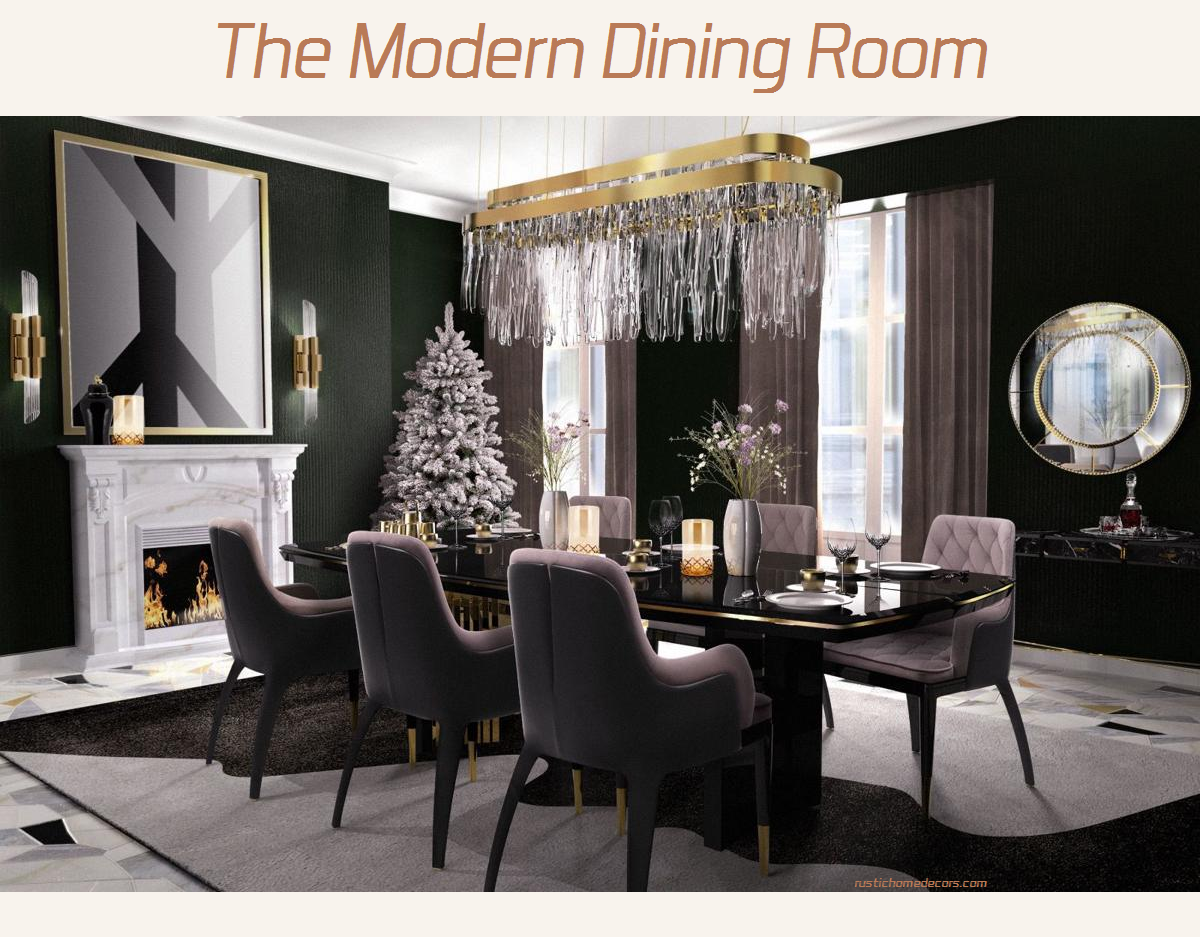 the modern dining room