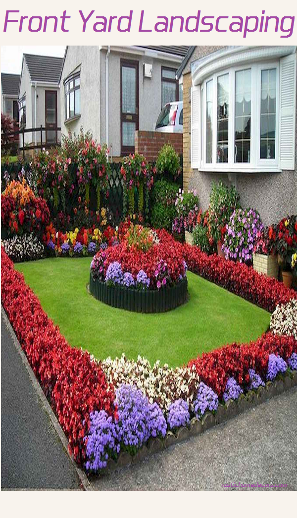 front yard landscaping.