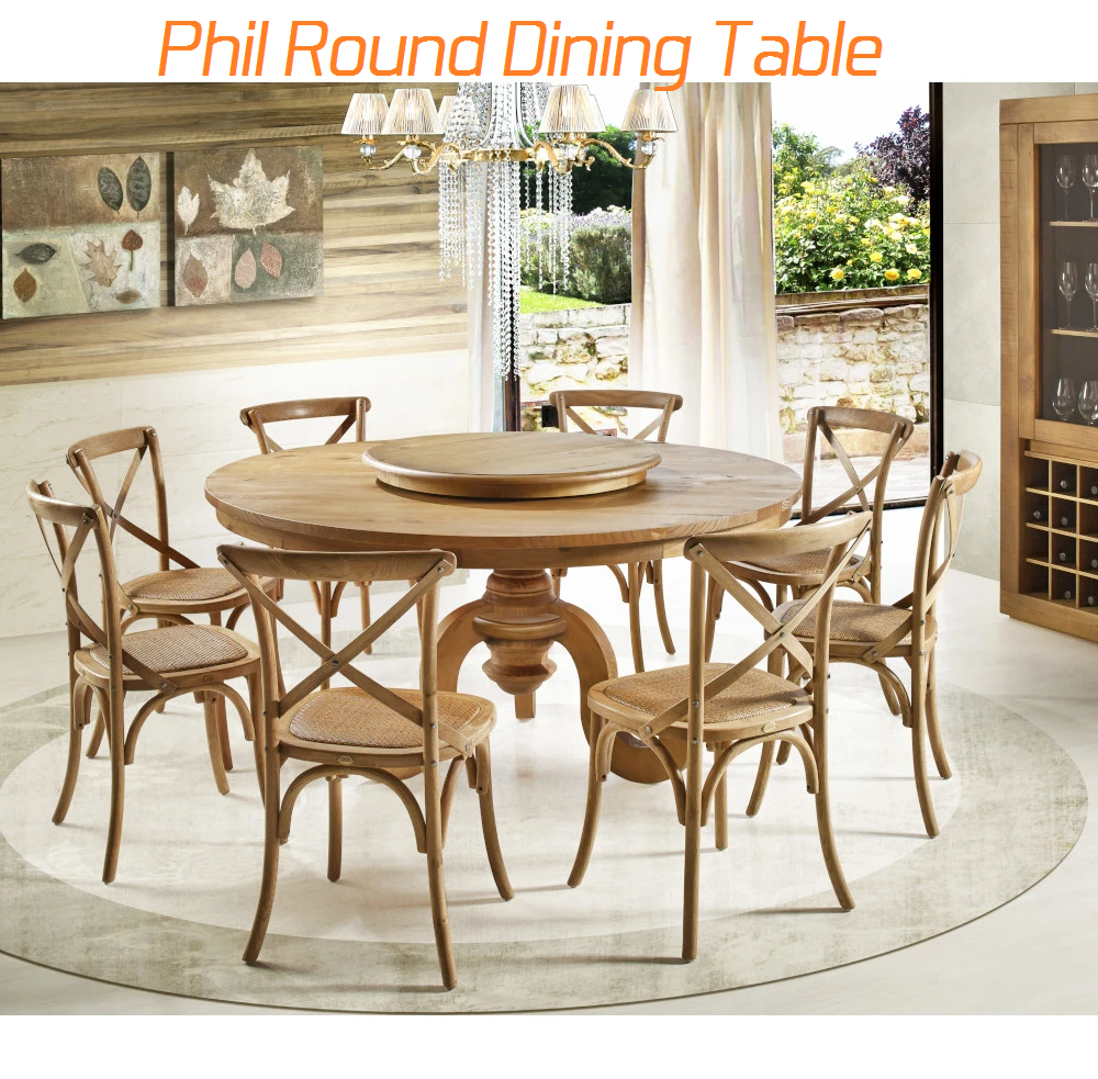 phil round dining table